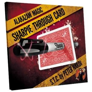 sharpie through card