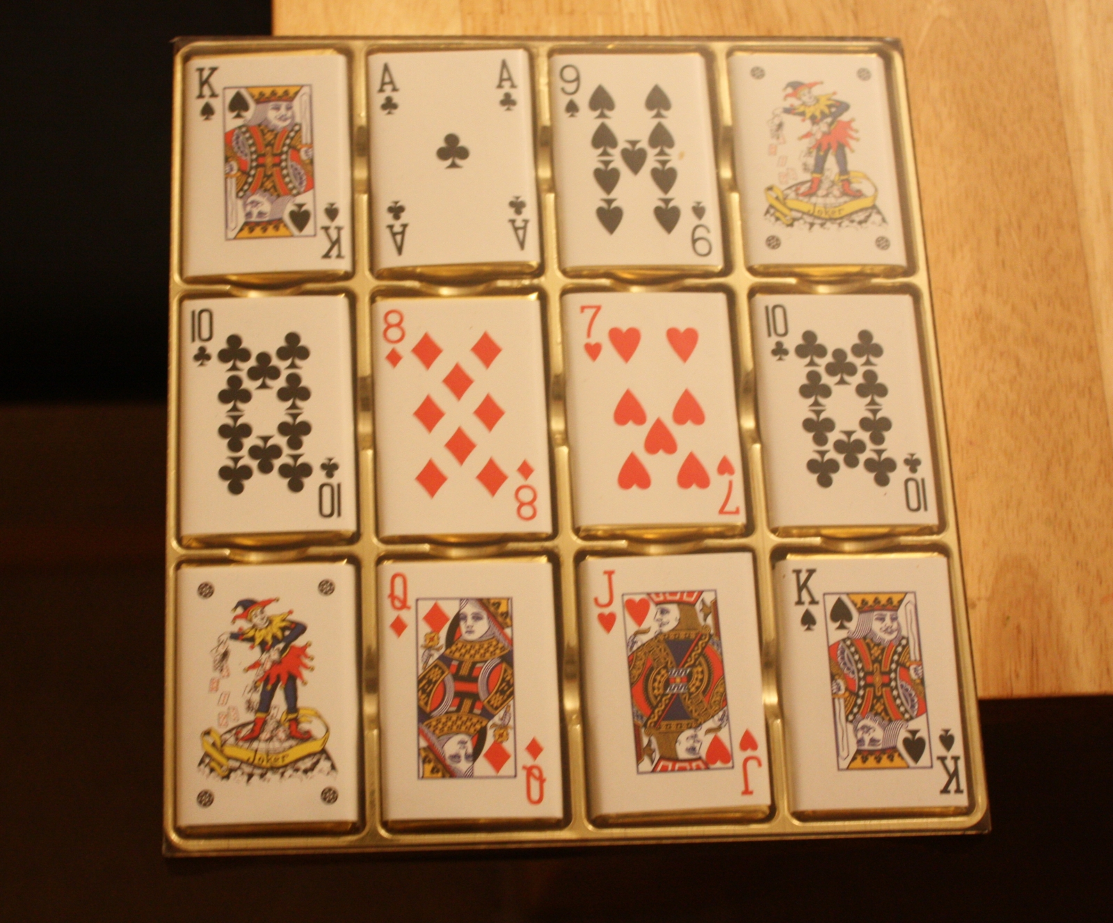 playing card chocolates