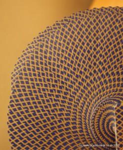golden bee fan detail