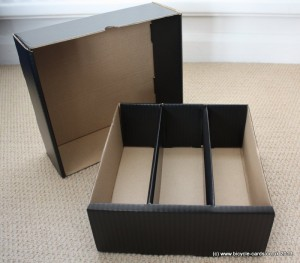 large card storage box empty