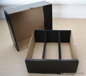 large card storage box empty