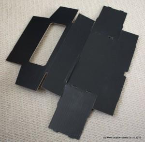 small card storage box flat