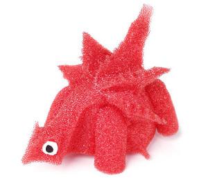 sponge cube to dinosaur