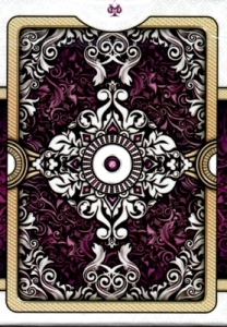 ornate white edition amethyst playing cards