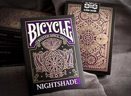 latest bicycle playing cards - nightshade deck