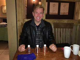 Brett Sherwood cups and balls