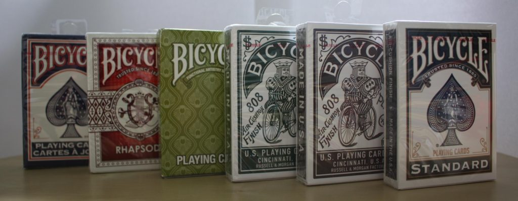 usa bicycle cards in supermarket group
