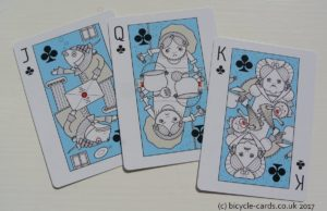 alice in wonderland playing cards court cards clubs