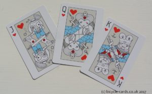 alice in wonderland playing cards court cards hearts
