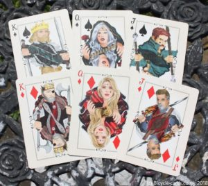 bicycle runic royalty playing cards - court cards spades and diamonds