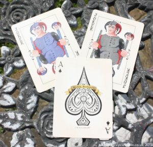 bicycle runic royalty playing cards - jokers and ace of spades