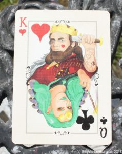 bicycle runic royalty playing cards - special card for magic