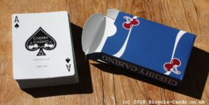 cherry casino playing cards - blue - review - ace of spades