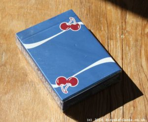 cherry casino playing cards - blue - review - tuckcase