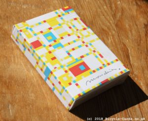 mondrian braodway playing cards - review - tuckcase
